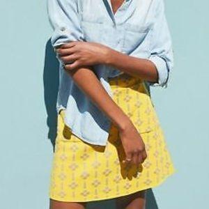 Anthropologie Maeve Quant Mini Skirt